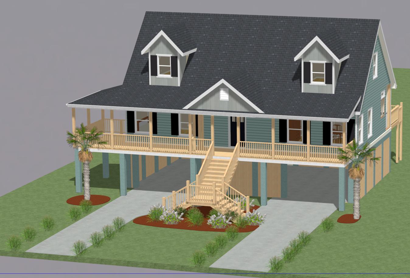 Front rt dynamic design for Fine home building