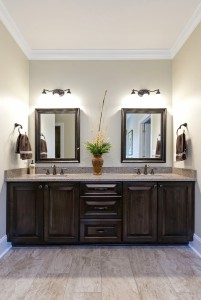 Handmade stained double vanity