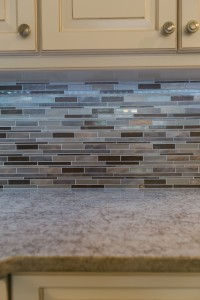 Metallic Tiled Backsplash